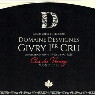 GIVRY 1ER CRU 2015 'CLOS DU VERNOY' - DOMAINE DESVIGNES