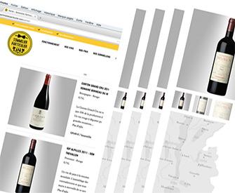 Je crée mon panier en ligne avec mes bouteilles de vins