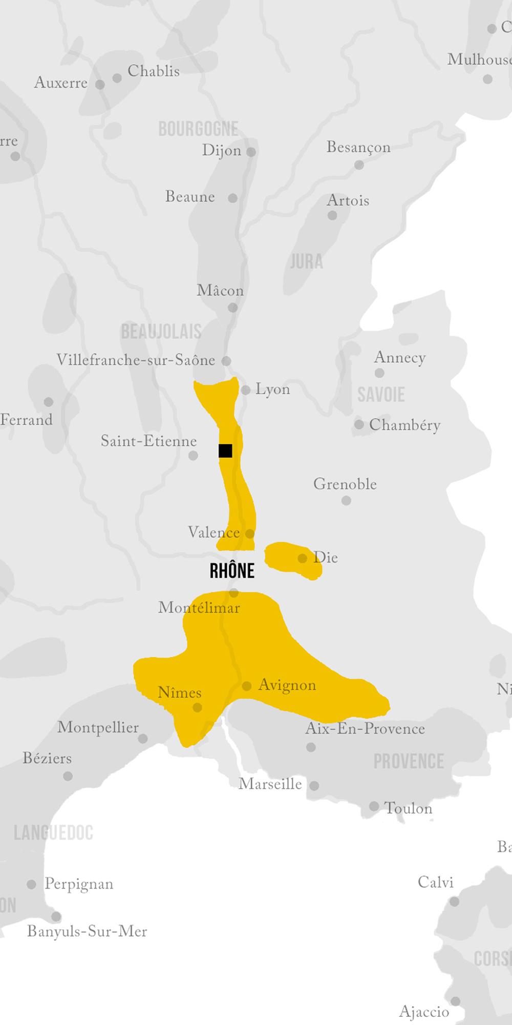 carte region viticole
